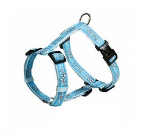 Modern Art H-Harness Sportdog Blue with Bones TRIXIE