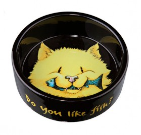 TRIXIE Ceramic Bowl Cat Head 0.3l