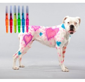 6 Rotuladores de Colores para Pintar Mascotas