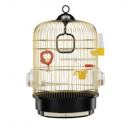 Jaula Pequeña de Latón para Pájaros FERPLAST
