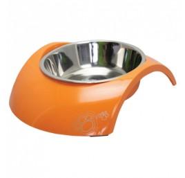 Comedero de Acero Inox y Melamina 2en1 Naranja ROGZ